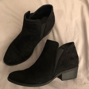 Black Low-heel Booties